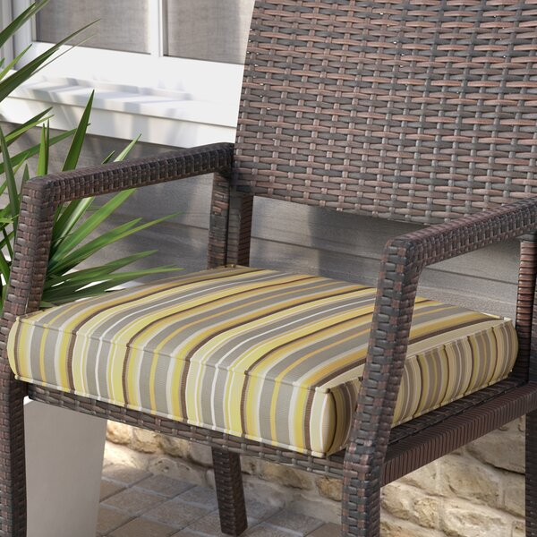 Stripe Indoor/Outdoor Sunbrella Dining Chair Cushion by Rosecliff Heights
