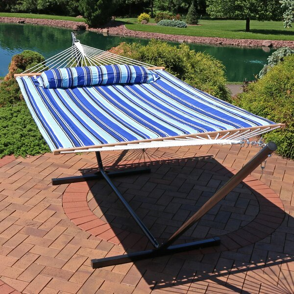 Halie Polyester Hammock with Stand by Freeport Par
