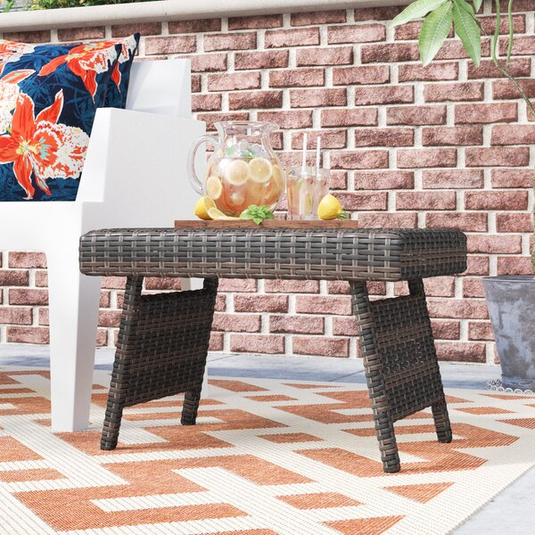 Coopersburg Wicker/Rattan Side Table by Ivy Bronx