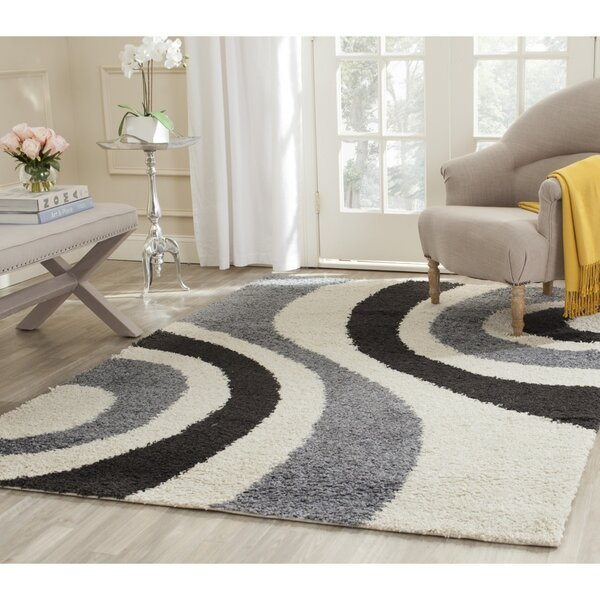Swanson Ivory & Grey Contemporary Area Rug by Latitude Run