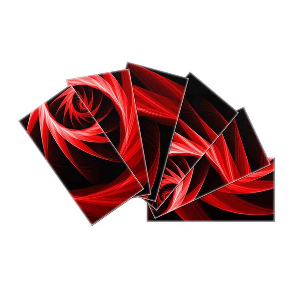 Crystal Skin 3 x 6 Glass Subway Tile in Black/Red by SkinnyTile
