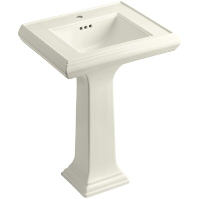 Pedestal Sink Ceramic Overflow Faucet Mount Single 754 Product Photo