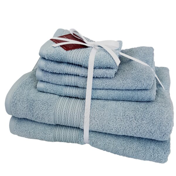 Cheltenham 6 Piece Turkish Cotton Towel Set by Highland Dunes