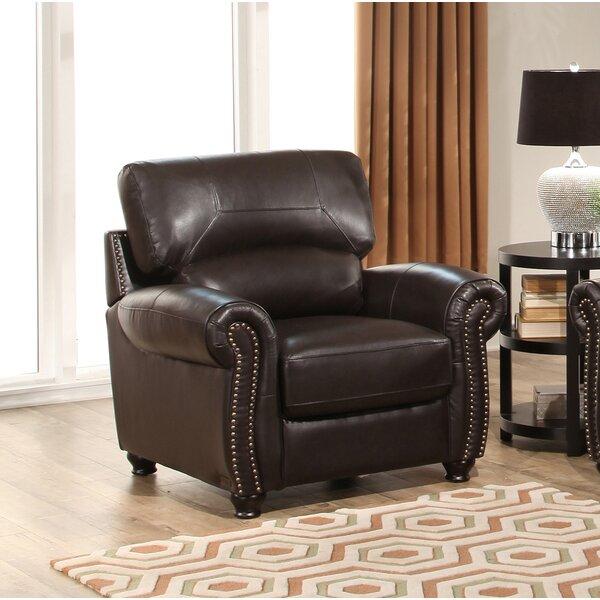 Boley Leather Club Chair by Fleur De Lis Living