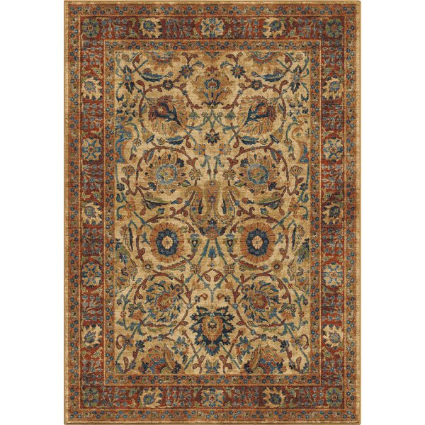 Lilah Moroccan Beige/Red/Blue Area Rug by Darby Home Co