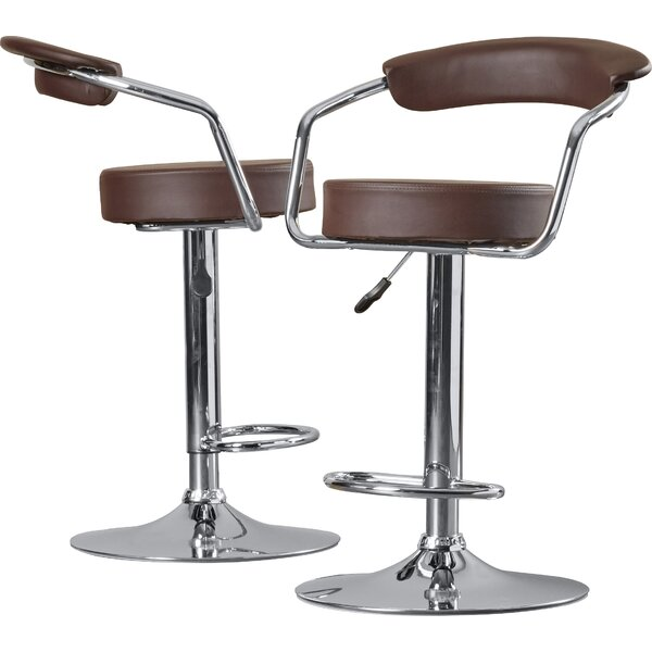 Adjustable Height Swivel Metal Bar Stool (Set of 2) by Wade Logan