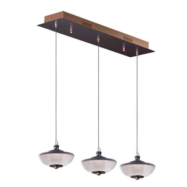 Chris 3-Light LED Kitchen Island Pendant by World Menagerie