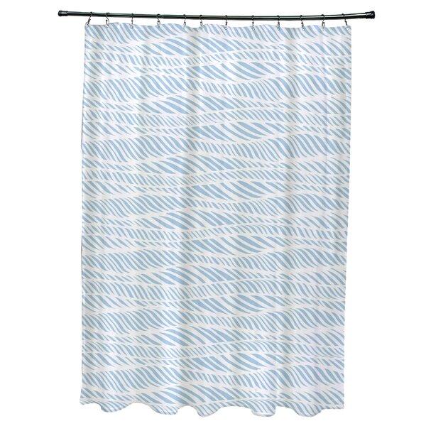 Viet Rolling Waves Shower Curtain by Bloomsbury Market