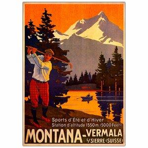 'Montana' Vintage Advertisement on Canvas by Trademark Fine Art