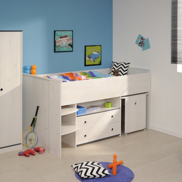 Raffa Midsleeper Twin Bed with Drawers by Harriet Bee