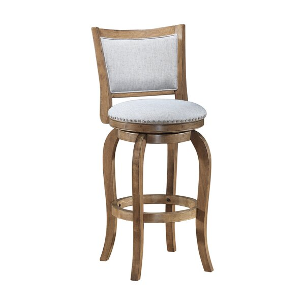 Prevost Wooden Swivel Bar Stool by One Allium Way