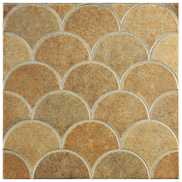 Escame 13.13 x 13.13 Ceramic Field Tile in Beige/Orange by EliteTile