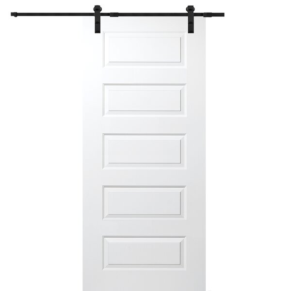 Rockport MDF 5 Panel Interior Barn Door by Verona