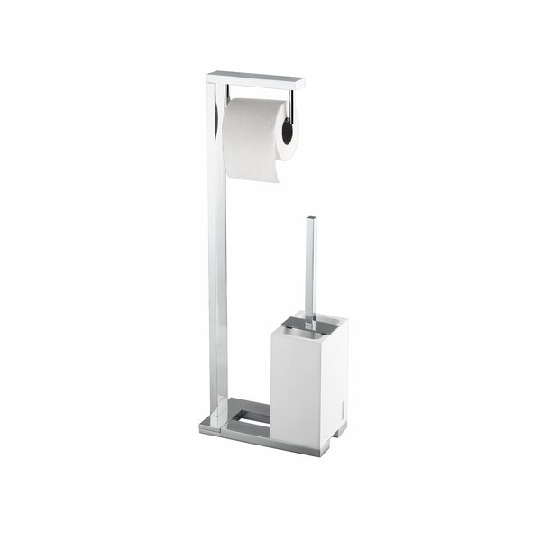 Demetra Free Standing Toilet Brush and Toilet Paper Holder