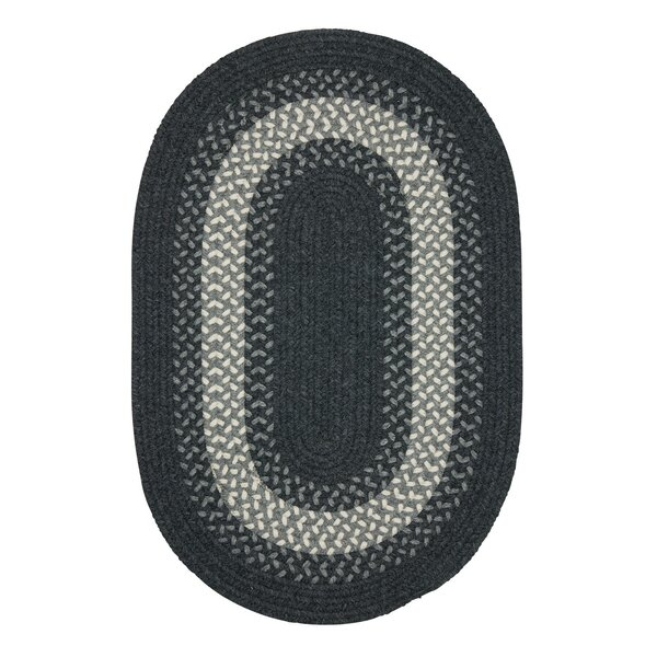 Serafin Hand-Woven Wool Charcoal Area Rug by August Grove