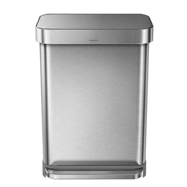 14.5 Gallon Rectangular Step Trash Can with Liner Pocket by simplehuman