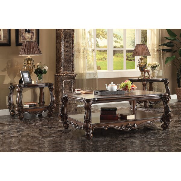 Maio Versailles 3 Piece Coffee Table Set by Astoria Grand Astoria Grand