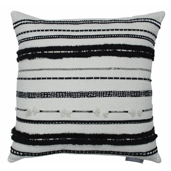 Painesville Knife Edge Appliqued Cotton Throw Pillow by Bungalow Rose