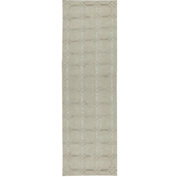 One-of-a-Kind Handwoven Runner 2'7 x 8'1 Beige Area Rug