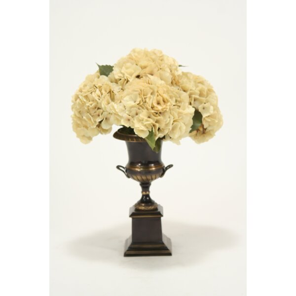 Silk Hydrangeas in Trophy Urn by Distinctive Designs