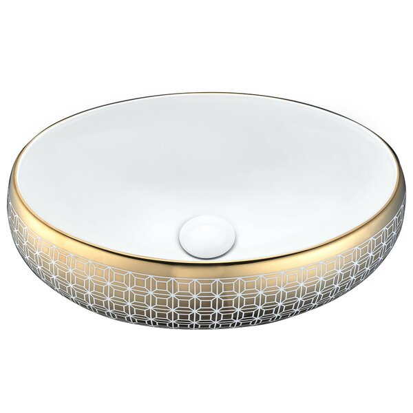 Sona Vitreous China Oval Vessel Bathroom Sink by ANZZI