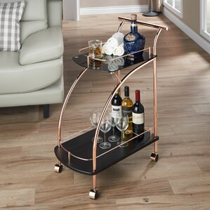Halverson Contemporary Bar Cart by Brayden Studio