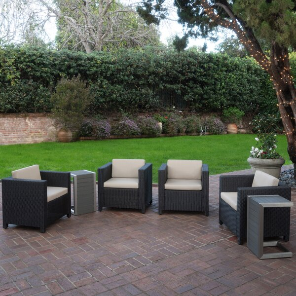 Furst 6 Piece Conversation Set with Cushions by Wade Logan