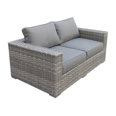 Peachy Brayden Studio Kaiser Love Seat With Cushion Uwap Interior Chair Design Uwaporg