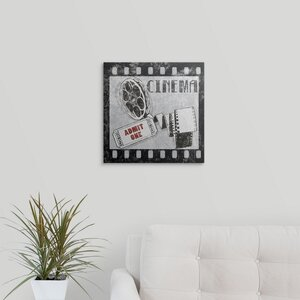 'Cinema' Graphic Art on Wrapped Canvas by Great Big Canvas