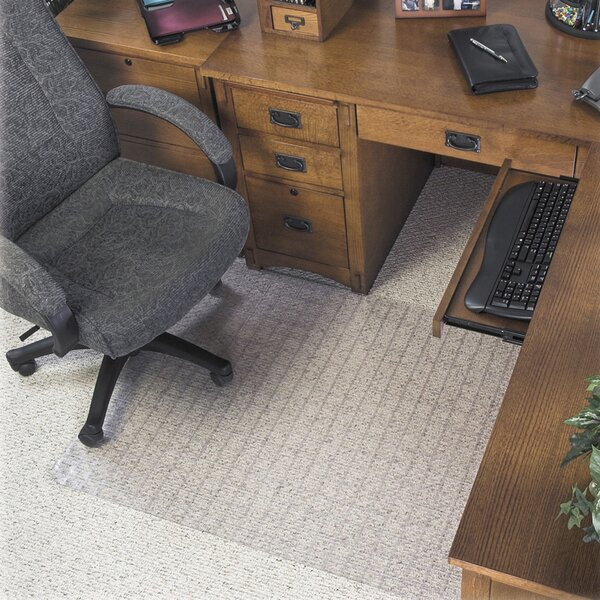Supermat Checkered Low Pile Carpet Beveled Edge Chair Mat by Deflect-O Corporation