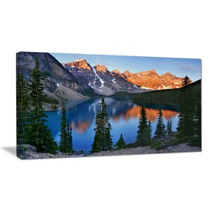 'Beautiful Moraine Lake Canada' Photographic Print on Wrapped Canvas by Design Art