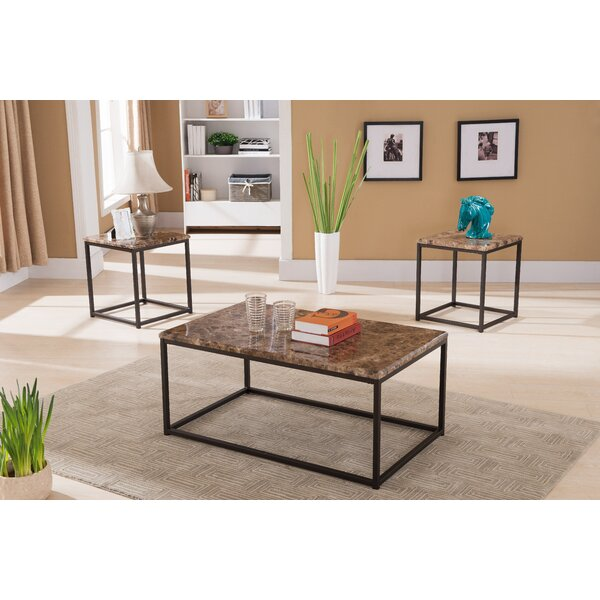Kamden 3 Piece Coffee Table Set by Latitude Run