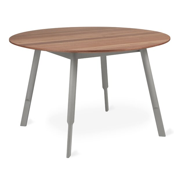 Bracket Round Solid Wood Dining Table by Gus* Modern