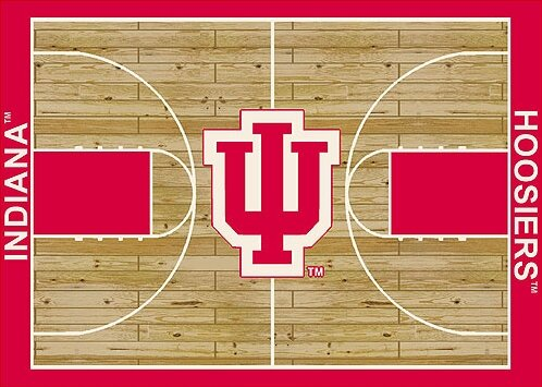 NCAA College Home Court Indiana Novelty Rug by My Team by Milliken