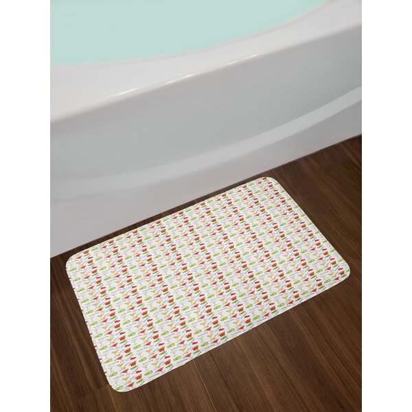 Delicious Colorful Bath Rug by East Urban Home