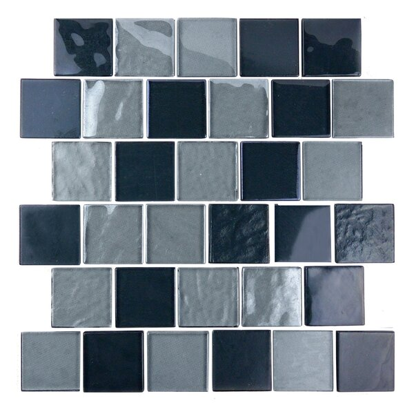 Landscape 2 x 2 Glass Mosaic Tile in Gray by Abolos