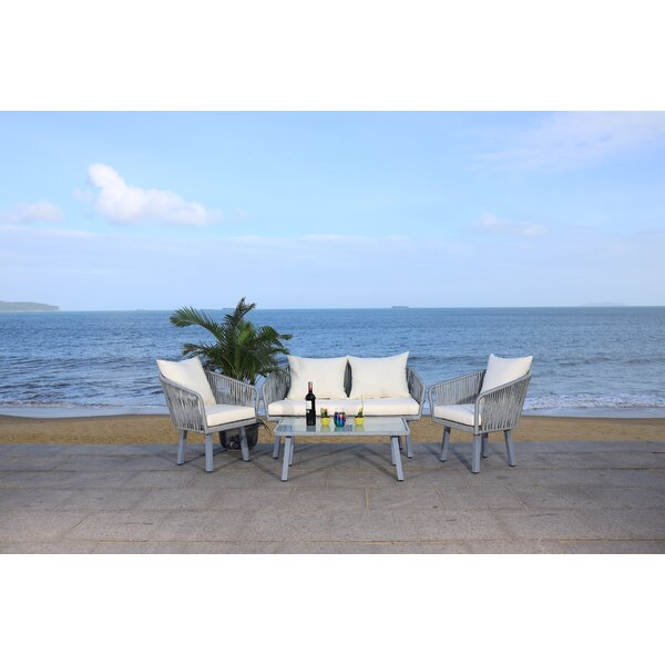 Humboldt Jorda 4 Piece Sofa Seating Group with Cushions by Bayou Breeze Bayou Breeze