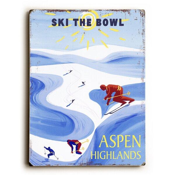 Ski the Bowl Vintage Advertisement by Artehouse LLC