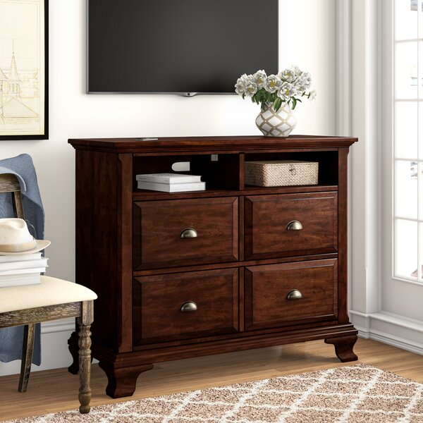 Plattsburgh 4 Drawer Media chest by Three Posts Three Posts