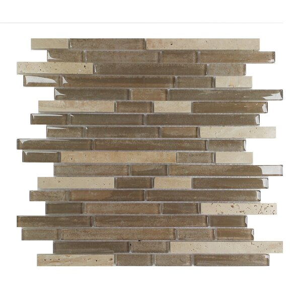 Palisades Random Sized Glass Mosaic Tile in Beige by Mulia Tile