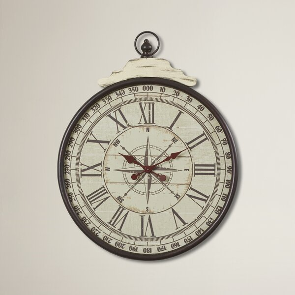Gowan Metal Wall Clock by Beachcrest Home