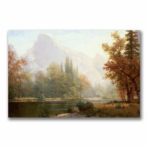 Half Dome Yosemite by Albert Bierstadt Photographic Print on Wrapped Canvas by Trademark Fine Art