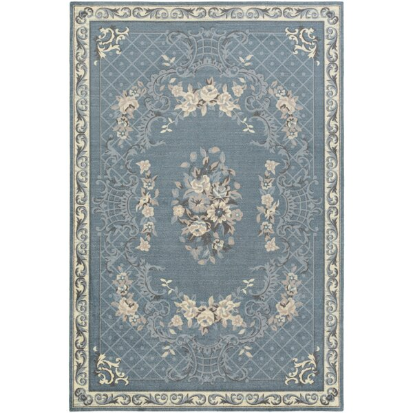 Kiger Blue Area Rug by Ophelia & Co.