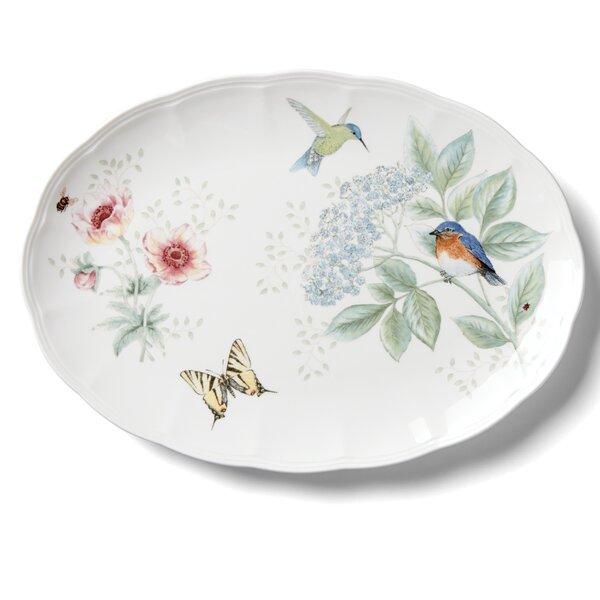 Butterfly Meadow Flutter Oval Platter by Lenox