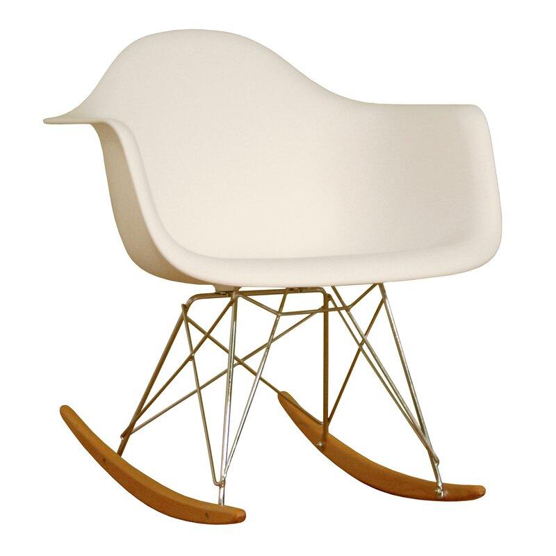 Exceptional Baxton Studio Mid Century Modern Rocking Chair