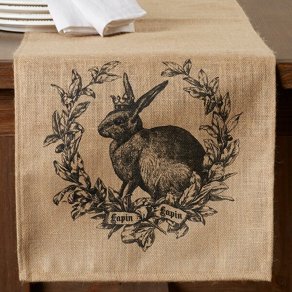 Boilleau Burlap Table Runner by One Allium Way