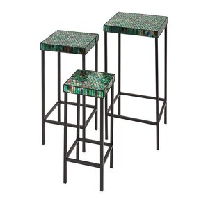 Darwin Mosaic 3 Piece End Table Set by Woodland Imports