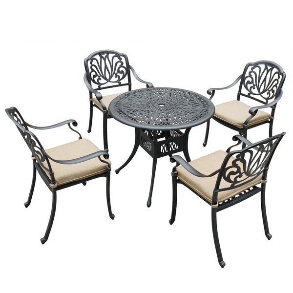 Lyme 5 Piece Dining Set with Cushions