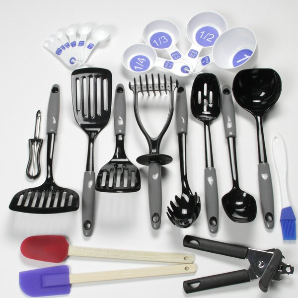23 Piece Nylon Select Kitchen Tool and Gadget Utensil Set by Chef Craft