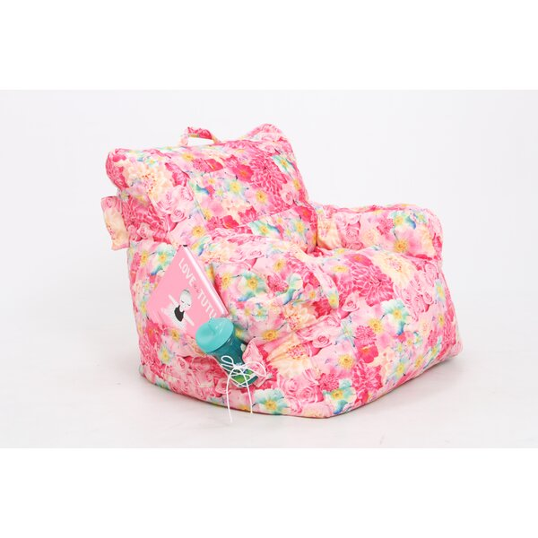 Flowers Bean Bag Chair by Zoomie Kids